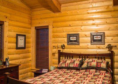 Customized Log Bedroom