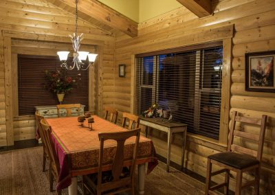 Customized Log Dining Room