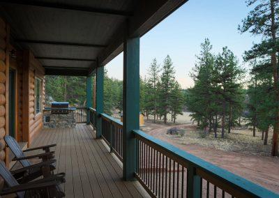 Custom Log Cabin Porch